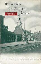 Postcard PA Philadelphia Home of Raincoat Anti Pluie Welcome Elks Club ca 1902
