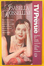 Isabella Rossellini PARIS FASHION COLLECTIONS Chicago TV guide July 18 1999