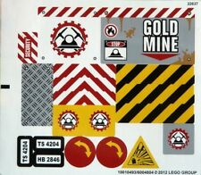LEGO 4204 - Town / City: Construction - The Mine - STICKER SHEET