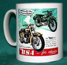 BSA.BANTAM & GOLDEN FLASH.VINTAGE DESIGN MUG..GREAT GIFT.NEW.BNIB