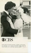 VICTORIA PRINCIPAL PATRICK DUFFY SMILING WEDDING DALLAS ORIG 1986 CBS TV PHOTO