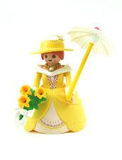 PLAYMOBIL~New~Custom~Princess~Yellow Hoop Skirt~Hat~Flower Bouquet~Umbrella~