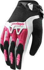 THOR MX Motocross 2015 Ladies SPECTRUM Gloves (Black/Pink) M (Medium)