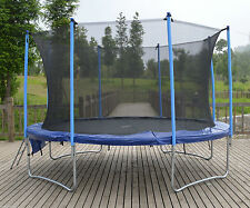 12ft Trampoline with internal safety net enclosure, ladder and rain cover 12ft