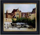 Framed Hand Painted Oil Painting Rep Monet Saint-Germain l'Auxerrois 20x24in