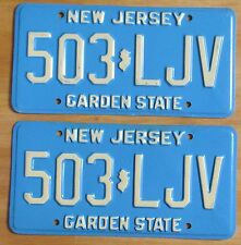 New Jersey 1979 License Plate PAIR # 503-LJV