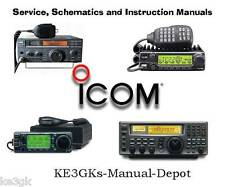 Over 550 Icom Service and Instruction Manuals Library * DVD * PDF
