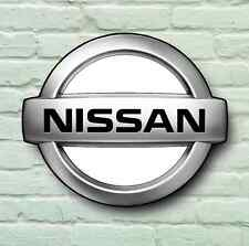 NISSAN LOGO 2FT LARGE GARAGE BADGE SIGN WALL PLAQUE CLASSIC  SKYLINE GTR