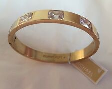 Michael Kors Black FriDay Gold Tone Crystal Stud Bangle Bracelet MKJ6236710 NWT