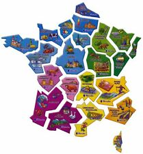 "collection  LOT COMPLET magnets carte de France ""LU petit ecolier"""