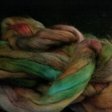 CRAZY Handpainted Suri Alpaca Roving Combed Top 100% soft Baby fiber RUFFLES