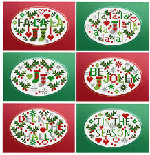 JOLLY HOLLY XMAS SET 6 RIVERDRIFT CHRISTMAS CARDS COUNTED CROSS STITCH KIT