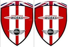 2 adhésifs stickers MINI COOPER JOHN COOPER WORKS JCW CHILI RED  ( ailes avant)