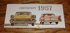 1957 Chevrolet Full Line Foldout Sales Brochure 57 Chevy Corvette Bel Air