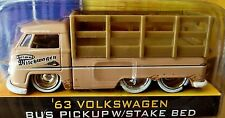 JADA 63 1963 VOLKSWAGEN VW BUS PICKUP W/STAKE BED TAN CUSTOM-STYLE COLLECTIBLE