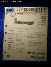 Sony Service Manual DVP S300 S305 S315 CD/DVD Player (#6693)