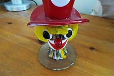 MURANO ART GLASS CLOWN ITALIAN VASE WITH HAT (COLLECTOR'S ITEM)