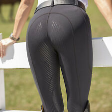 FITS TechTred Full Seat Pull On Breeches-Black-S