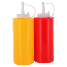 Plastic 11.5 oz Ketchup & Mustard 7 in Dispensers Bottles
