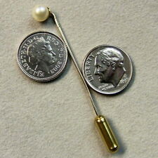 9 ct GOLD second hand pearl stick pin