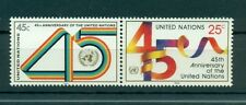 Nations Unies New York 1990 - Michel n.602/03 - 45e anniversaire de l'Organisat