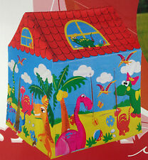 NEW DINOSAUR PRINT KIDS ANIMAL PLAYHOUSE TENT INDOOR OUTDOOR GARDEN GAMES