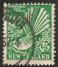New Zealand Stamp - Scott #185/A58 1/2p Bright Green Used/LH 1935