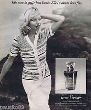 PUBLICITE ADVERTISING 095 1976 Jean Desses parfum