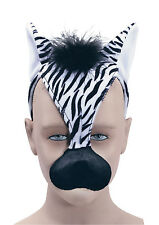 Zebra + Sound (H/B) Masquerade Mask for Animal Africa Madagascar Fancy Dress Mas