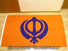 Fahnen Flagge Sikh Religion Khanda - 90 x 150 cm