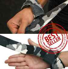 ProStraps GREY CAMO Padded Straps Weight Lifting Gym Workout Deadlift Wraps Grip