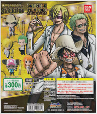 One Piece Gashapon Film Gold Swing Strap Figure Complete Set (5)