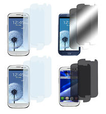 8 x Samsung Galaxy S3 Klar + Matt + Spiegel + Privacy Displayschutzfolie Folie