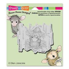 HOUSE MOUSE RUBBER STAMPS CLING RAIN FLOWER NEW cling STAMP