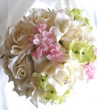 LARGEG LOT 55 pcs Wedding bouquets Silk flowers decoration centerpiece Pew PINK