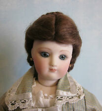 1870 Blonde or Brown French Fashion doll mohair wig Size 9
