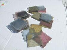 Antique stained glass panel section architectural salvage 7.5cm vieux £ 2.50 chaque