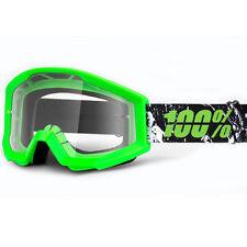 100% Strata Goggles DH Downhill MTB Bike Motocross MX Eyewear Crafty Lime
