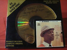 """DCC GZS-1119 NAT KING COLE """" THE VERY THOUGHT """" (24 KT GOLD COMPACT DISC/SEALED)"""