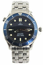 2541.80 Omega Seamaster Professional Blue Wave Dial Mens Large Bond Quartz Watch