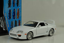 1995 Brian`s Toyota Supra Fast and & Furious 7 white weiss 1:24 Jada