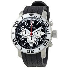 TW Steel Grandeur Diver 45 MM Black Dial Black Rubber Strap Mens Watch TW72