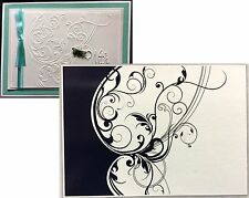 CGULL Embossing Folders FLORAL LEAF SWIRL folder 12-0018 All Occasion Wedding