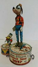 VINTAGE WALT DISNEY'S DONALD DUCK DUET DANCING TIN LITHO WIND UP TOY WORKING