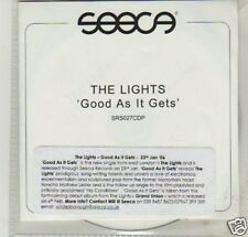 (D469) The Lights, Good As It Gets - DJ CD