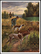 GERMAN SHORTHAIRED POINTER DOGS MEN GUNS GREAT SHOOTING SCENE DOG PRINT POSTER