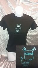BNWT 'With It' Black/Metallic Blue TOP DOG Cute/Kawaii/Funny/Slogan Tshirt/Top M