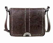 Montana West Floral Tooling Messenger Bag Western Cowgirl Cross Body Bag Purse