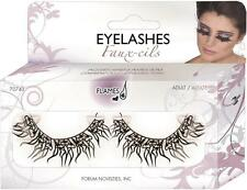 Flaming Hearts Eyelashes Paper Lashes Fancy Dress Up Halloween Costume Accessory