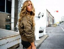 Zara Khaki Bomber XS 6 8 Bloggers Fave Sold Out Quilted Jacket Extra Small